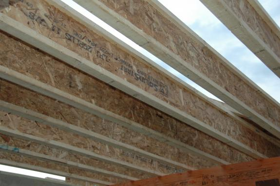 Engineered wood i joists middleton green home