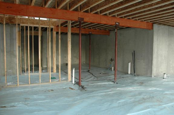 basement slab insulation middleton green home