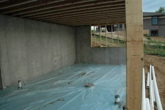 first floor ceiling and preparation for slab middleton green home