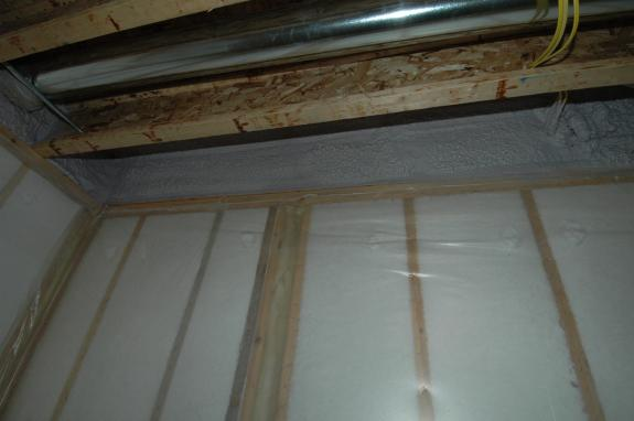 Spray Foam Insulation In Basement Continuing To Expand