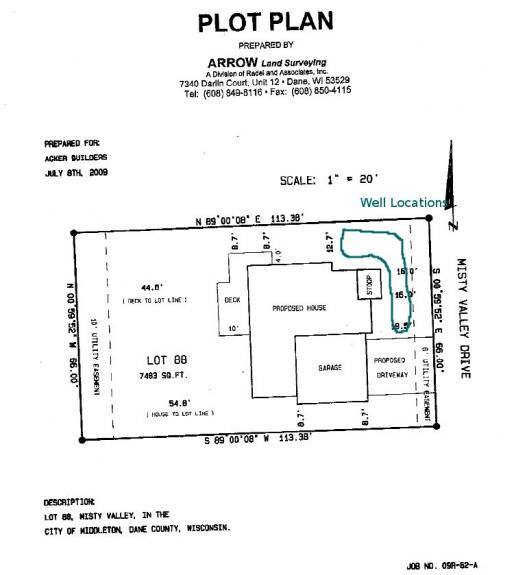 Plot Plan And Geothermal Wells Middleton Green Home